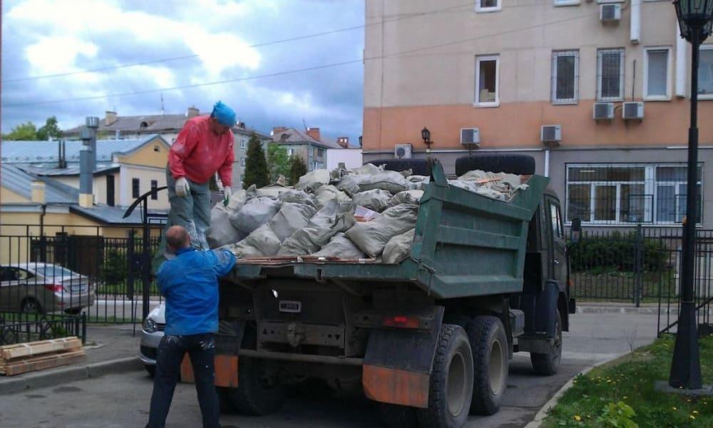 Вынос и погрузка строительного мусора